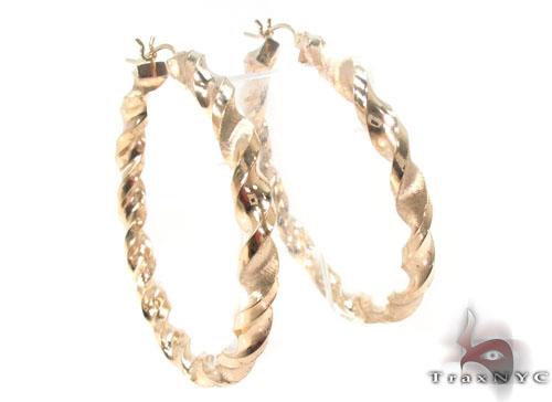 10K Gold Hoop Earrings 34307 Metal