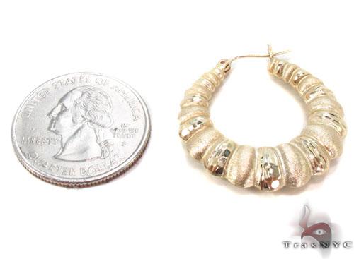 10K Gold Hoop Earrings 34363 Metal