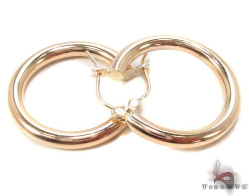 10K Gold Hoop Earrings 34426 Metal