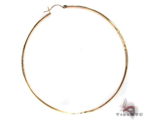 10K Gold Hoop Earrings 34449 Metal