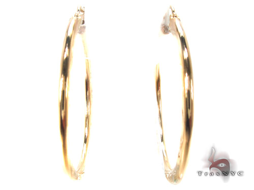 10K Gold Hoop Earrings 34734 Metal