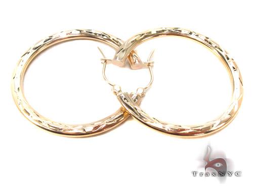 10K Gold Hoop Earrings 34734 Metal