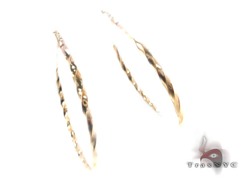 10K Gold Hoop Earrings 34737 Metal