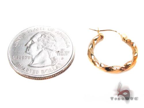10K Gold Hoop Earrings 34742 Metal
