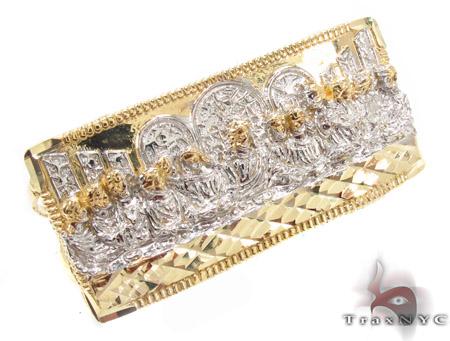 10K Gold Last Supper Ring 33228 Metal