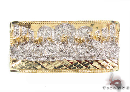 10K Gold Last Supper Ring 33228 Metal