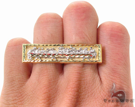 10K Gold Last Supper Ring 33232 Metal