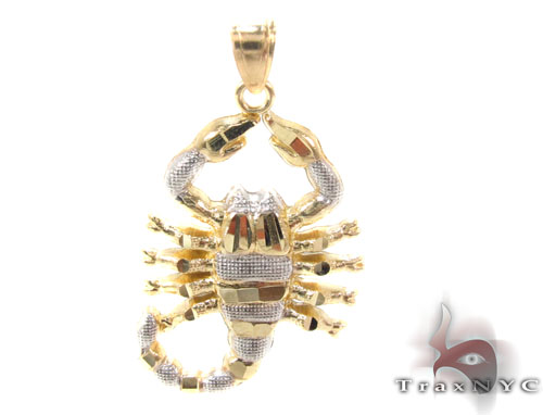 10K Gold Scorpion Pendant Metal