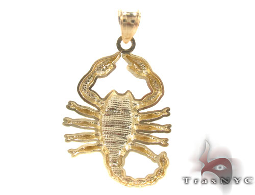 10K Gold Scorpion Pendant Metal