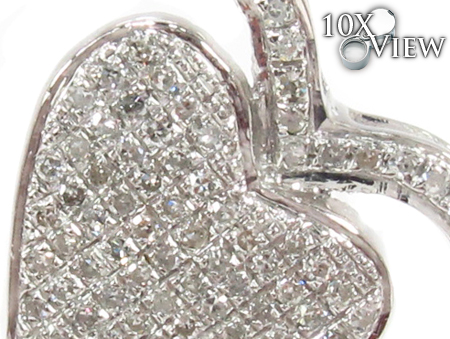10K Prong Diamond Heart Pendant 32327 Style