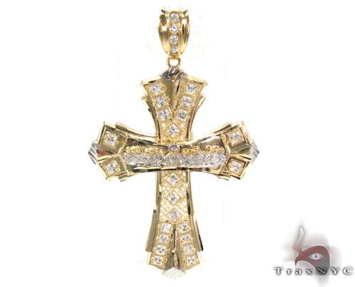 10K Two Tone Jesus Pendant 33951 Gold