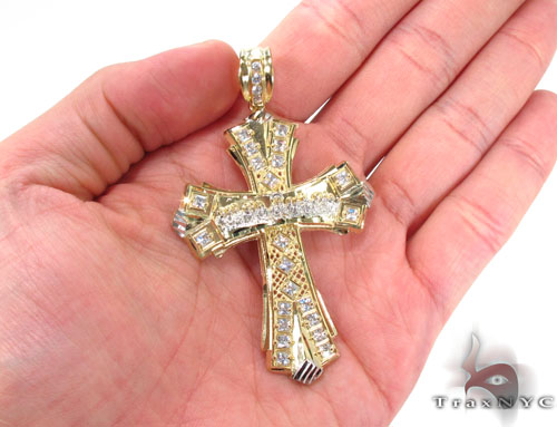 10K Two Tone Jesus Pendant 33951 Gold