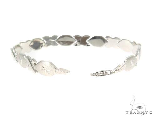 10K White Gold Bracelet 44359 Gold