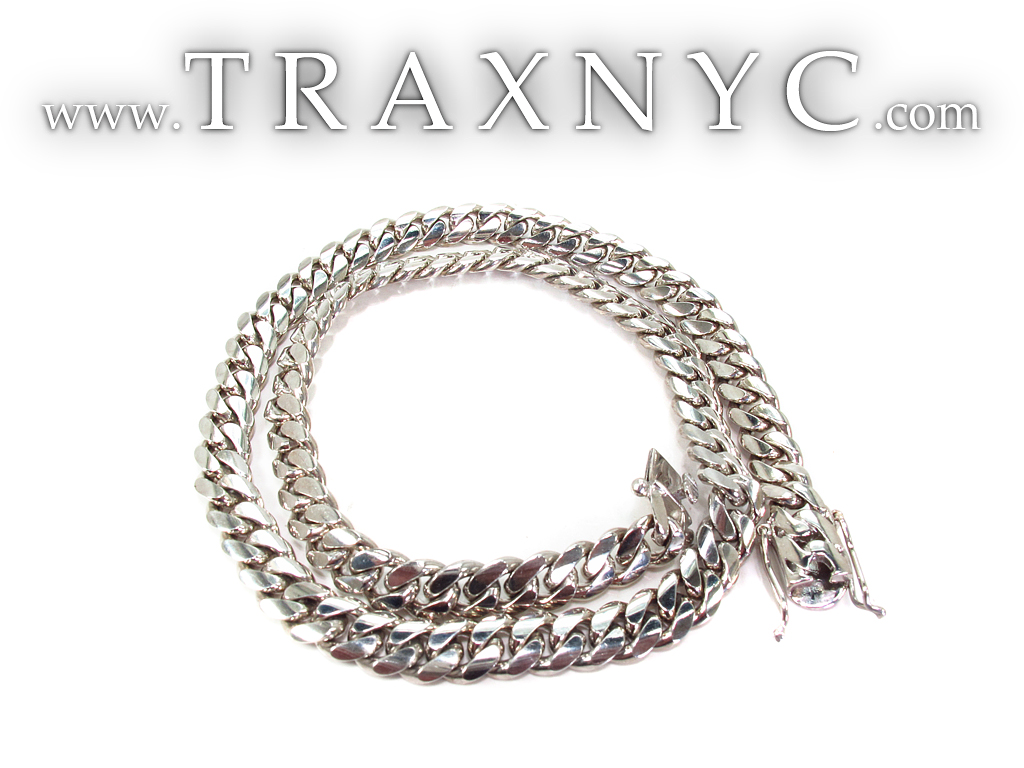 10k White Gold Miami Cuban Link Chain 23 Inches 10mm 157 3