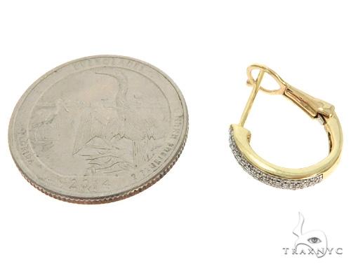 10K YG Micro Pave Diamond Hoop Earrings 58580 10k, 14k, 18k Gold Earrings
