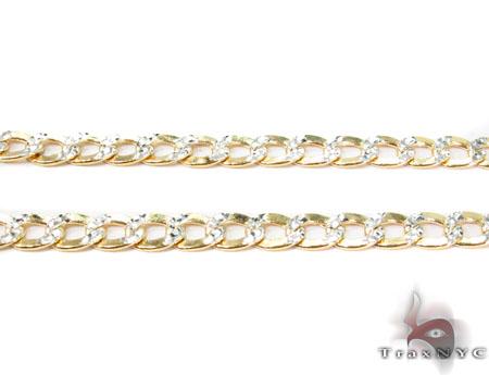 10K Yellow Gold Diamond Cut Cuban Chain 20 Inches 4mm 6.1 Grams Gold