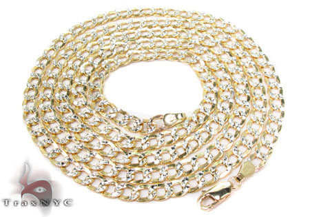 10K Yellow Gold Diamond Cut Cuban Chain 20 Inches 4mm 6.1 Grams Gold