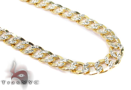 10K Yellow Gold Diamond Cut Cuban Chain 24 Inches 6mm 18.5 Grams Gold
