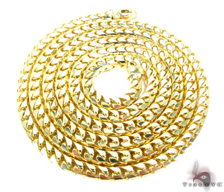 10K Yellow Gold Franco Chain 40 Inches, 5mm, 207.1 Grams Gold