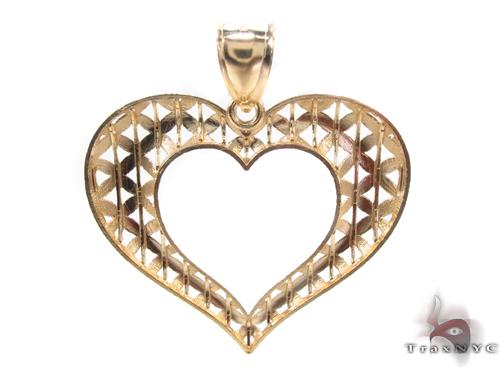 10K Yellow Gold Heart Charm 34274 Metal