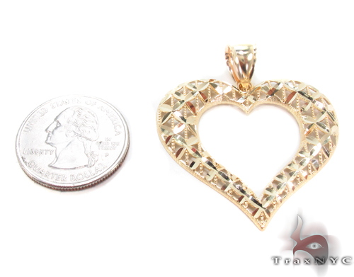 10K Yellow Gold Heart Charm 34274 Metal