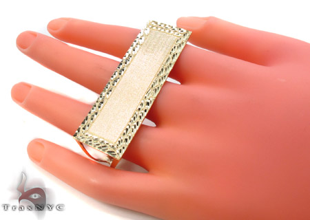 10K Yellow Gold ID Ring 33308 Anniversary/Fashion