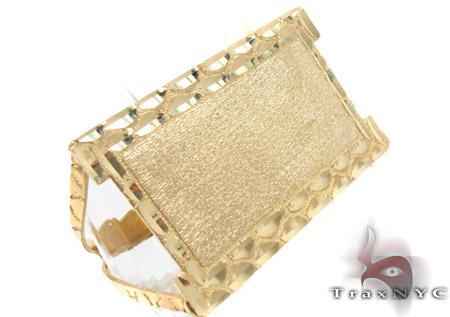 10K Yellow Gold ID Ring 33309 Metal