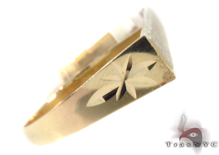 10K Yellow Gold ID Ring 33316 Anniversary/Fashion