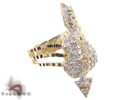 10K Yellow Gold Cupid Arrow Ring 33318 Anniversary/Fashion