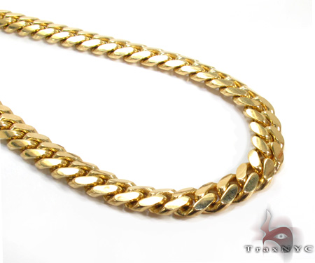 10K Yellow Gold Miami Chain 36 Inches, 7mm, 110.8 Grams Gold