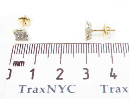 10K Yellow Gold Prong Diamond Earrings 32059 Stone