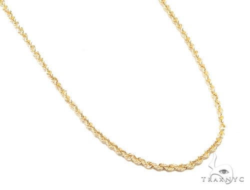 10K Yellow Rope Gold Chain 22 Inches 2.5mm 3.4 Grams 44947 Gold