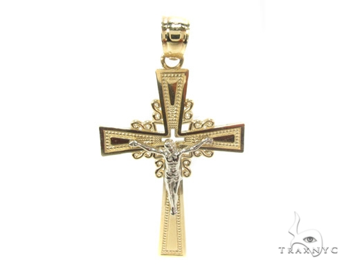 10k Gold Cross 34863 Gold