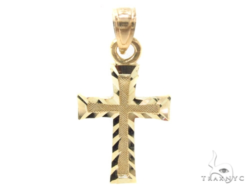 10k Gold Cross 34879 Gold