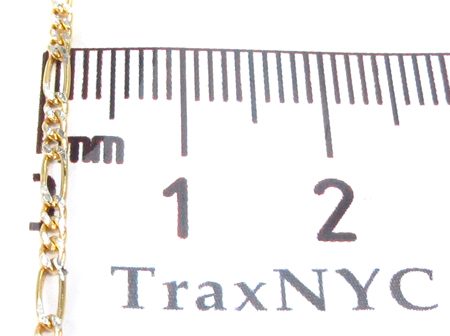 10k Gold Diamond Cut Figaro Chain 24 Inches 2mm 1.87 Grams Gold