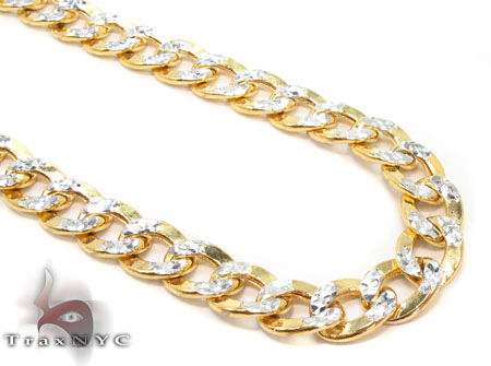 10k Gold Diamond Cut Cuban Chain 28 Inches 7mm 26.18 Grams Gold