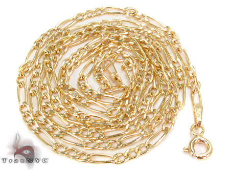 10k Gold Figaro Chain 24 Inches 2mm 2.59 Grams Gold
