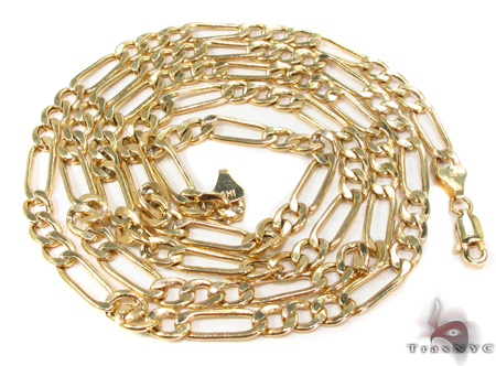 10k Gold Figaro Chain 28 Inches 5mm 10.88 Grams Gold