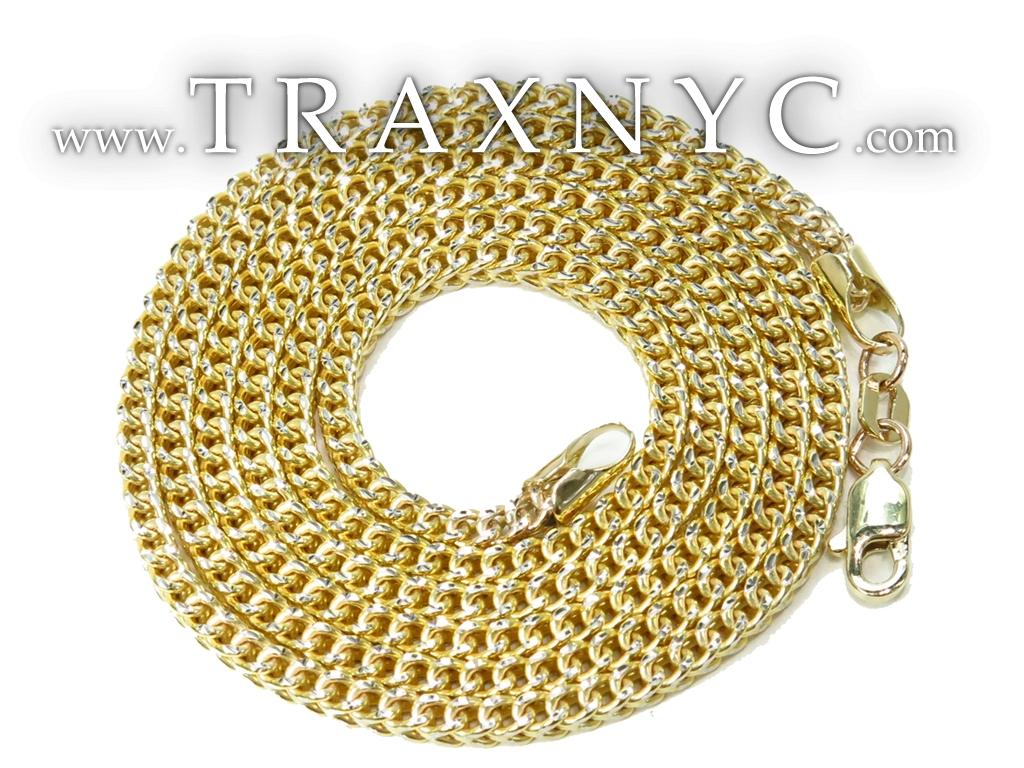 10k Gold Franco Hollow Chain 22 Inches 2mm 7 20 Grams 40978