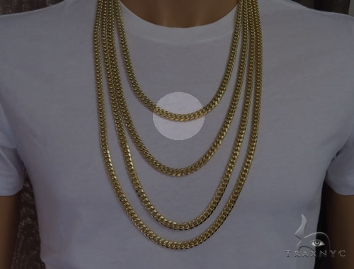 10k Gold Miami Cuban Chain 24 Inches 6mm 56.8 Grams 40974 Gold
