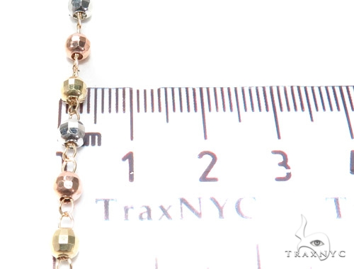 10k Gold Rosary Chain 30 Inches 4mm 9.8 Grams 42487 Gold