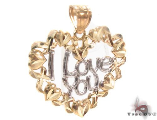 10k Two Tone Gold Charm 34279 Metal