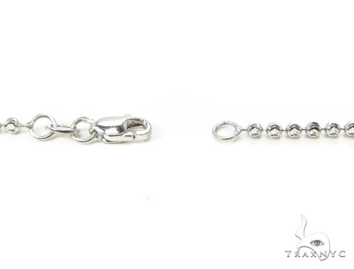 10k White Gold Bead n 30 Inches 2mm 8.2 Grams Gold