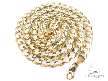 10k Yellow Cuban/Curb Gold Chain 24 Inches 9mm 34 Grams 42302 Gold