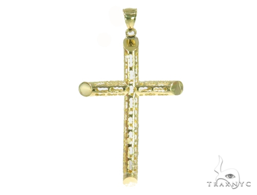 10k Yellow Gold Cross 44417 Gold