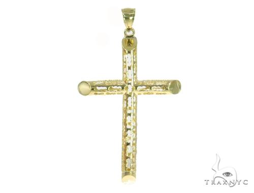 10k Yellow Gold Cross 44417 Gold