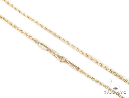 10k Yellow Gold Crown Rope Chain 44209 Style