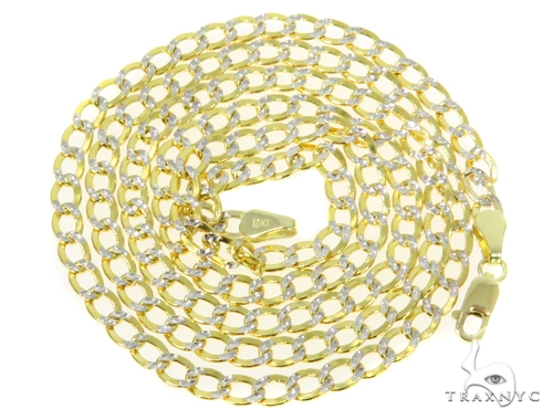 10k Yellow Gold Cuban/Curb Chain 22 Inches 3.5mm 4.4 Grams 44439 Gold