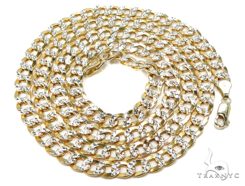 10k Yellow Gold Cuban Chain 30 Inches 6mm 13.50 Grams 40007 Gold