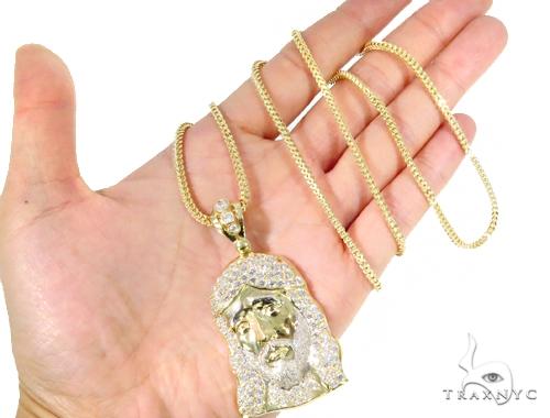 10k Yellow Gold Jesus Franco Chain Set 44399 Style
